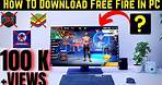 How To Download Free Fire In Pc   (2021)