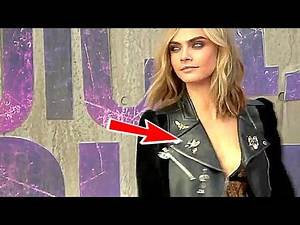 Cara Delevingne Is Stunning! - SUICIDE SQUAD Premiere Highlights