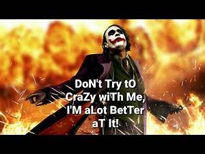 JOKER FULL ATTITUDE QUOTES || THE DARK KNIGHT JOKER