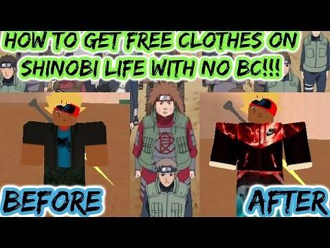 How To Get Free Clothes On Shinobi Life!!!