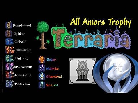 Terraria 'Knight in Shining Armors' List Trophy/Achievement for PS4/Xbox Consoles