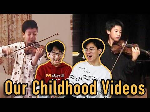 Reacting to Our Childhood Violin Performance Videos