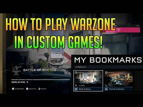 How to Play Warzone in Custom Games!