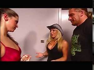 The Rock vs Trish Stratus and Triple H   Trish Stratus gives Stephanie a heartbreak
