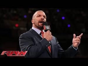 Triple H addresses the return of WWE Tough Enough: Raw, April 20, 2015