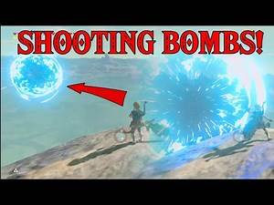 SHOOTING BOMBS! Why throw when you can Shoot them FAR AWAY in Zelda Breath of the Wild DLC