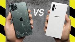 iPhone 11 Pro Max vs. Galaxy Note 10 Drop Test