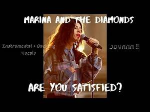 MARINA - Are You Satisfied? (Instrumental Backing Vocals)
