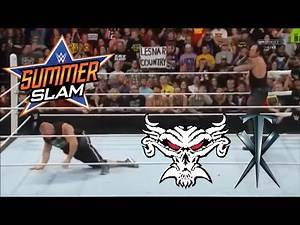 The Undertaker attack Brock Lesnar during his HomeComing Celebration: Raw; Aug 17 2015