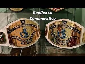 WWE Intercontinental Championship Replica vs Commemorative Title Belt