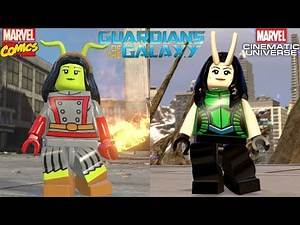 Lego Guardians of the Galaxy - Marvel Comics VS Mcu (All characters side by side)
