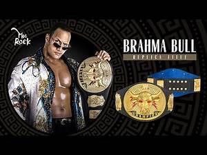 "The Rock ""Brahma Bull"" Replica Championship Title Belt Now On WWE Shop!!!!"