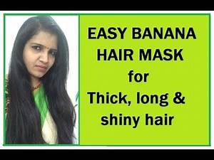 easy banana hair mask with special ingredient, shiny & straight hair, hair care