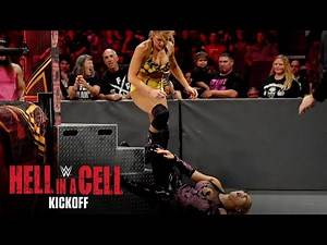 Lacey Evans hurls Natalya into the steel ring steps: WWE Hell in a Cell Kickoff 2019