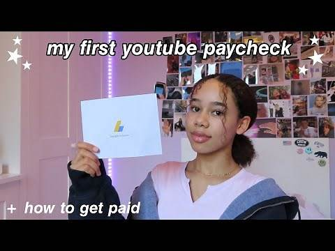my first youtube paycheck: how much + how to get paid