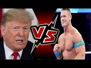 DONALD TRUMP VS JOHN CENA   WWE 2K19