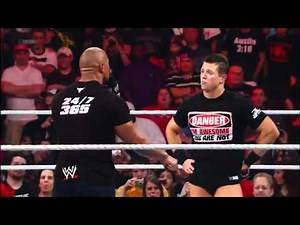 WWE.com Exclusive The Rock confronts The Miz after RAW goes off the air - 19/3/12