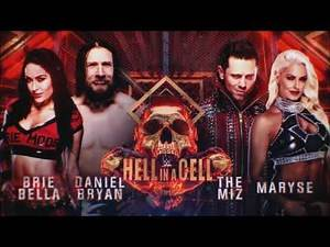 WWE Hell in a Cell 2018: Daniel Bryan & Brie Bella vs. The Miz & Maryse - Official Match Card
