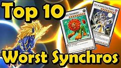 Top 10 Worst Synchro Monsters in YuGiOh