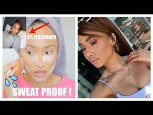 SWEAT, FLASHBACK PROOF SUMMER MAKEUP + HAIRSTYLE