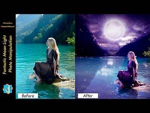 PicsArt Tutorial | Fantastic Moon Light Photo Manipulation | PicsArtGuru