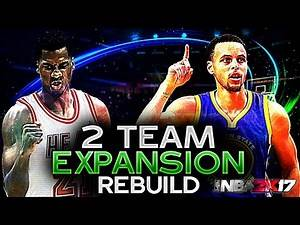 NBA 2K17 MY LEAGUE: REBUILDING 2 EXPANSION TEAMS!! THIS IS CRAZY!!!