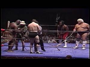 Dusty Rhodes & Junkyard Dog vs. Kamala & Ted DiBiase 1982