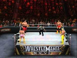 Yokozuna Vs Randy Savage Vs Hulk Hogan Vs Ultimate Warrior (SmackDown Vs RAW 2011) (X Box 360)