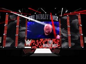WWE The Dudley Boyz 2015 Stage (with pyro and lights)