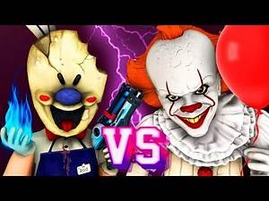 Ice Scream Man vs Pennywise - Movie (All Episodes Compilation It 2 Mobile Horror Game 3D Animation)