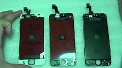 iPhone 5 / 5C / 5S Screen Comparison and Differences