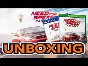 Need For Speed Payback (Xbox One/PS4) Unboxing !!