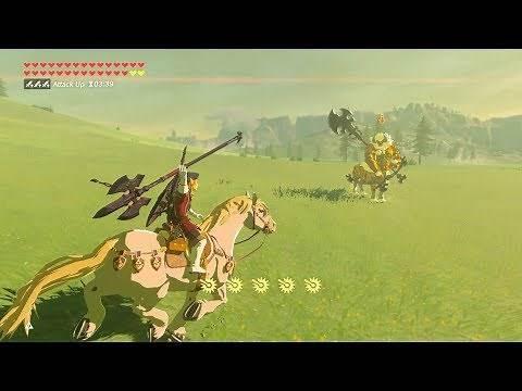 Zelda: BOTW (Royal Guard Link VS Gold Lynel) Royal Guard Weapons Only