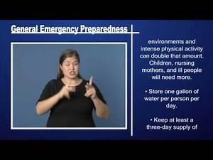 General Emergency Preparedness