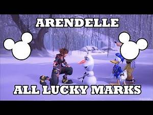 Kingdom Hearts 3 - Arendelle Lucky Emblems Location - All Lucky Marks