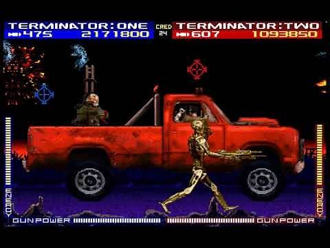 Terminator 2: Judgment Day arcade 2 player 60fps