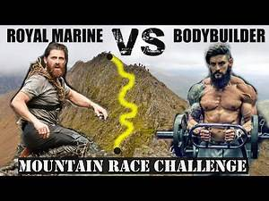 BODYBUILDER Speed Climbs A Mountain w/ ROYAL MARINE .... & NO PRACTICE!!