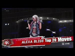 Top 20 Moves Of Alexa Bliss - WWE 2K19