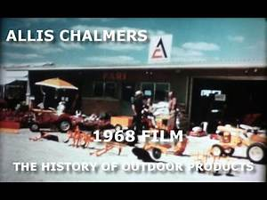 1968 Allis Chalmers Dealer Movie Outdoor Products History 1961 to 1968