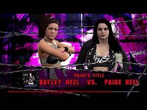 WWE 2K17 Paige Heel VS Bayley Heel 1 VS 1 Submission Match Paige's Title