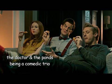 the doctor and the ponds being a comedic trio