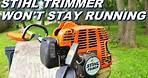 Stihl trimmer won't stay running. Sad ending