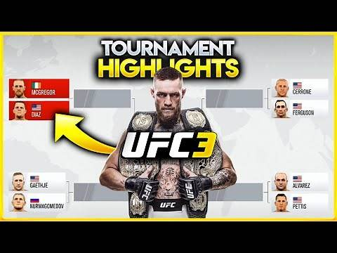 Who is the best UFC 3 Lightweight Fighter in the Game? | Crazy back-and-forth Tournament Highlights