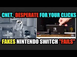 """Desperate for Clicks, CNET Try to Manufacture Nintendo Switch """"FAILS""""… #KICKSTANDGATE!!!"""