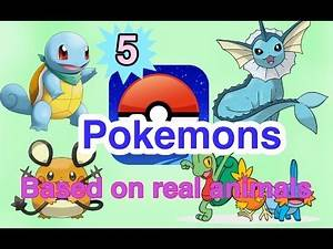 5 Pokemons Based On Real Animals
