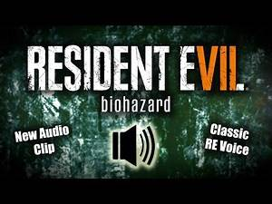 RE7 NEW AUDIO CLIP | Classic Title Screen Voice Says Resident Evil 7 | Will It Come Back?