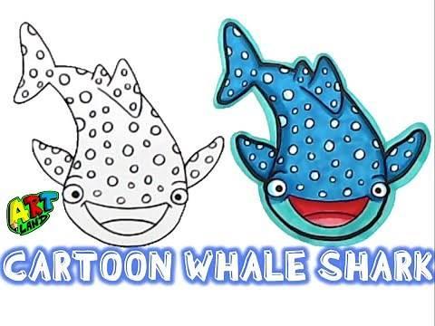 How to Draw a CARTOON WHALE SHARK