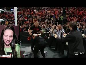 WWE Raw 2/22/16 HHH attacks Roman