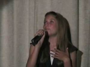 Madison acting monologue and singing solo for Chaparral Middle School Musical Theater Night