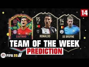 FIFA 20   TEAM OF THE WEEK 14 PREDICTION 😱🔥  FT. RONALDO, DE BRUYNE, COUTINHO... etc
